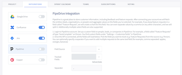 Setting up Pipedrive Step 2